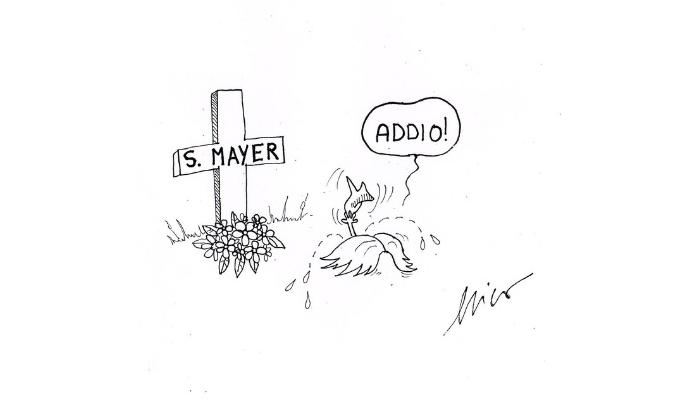 Mayer addio