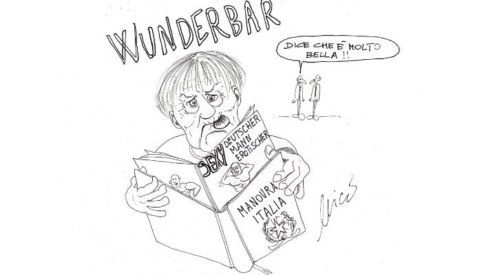 Merkel e la manovra italia