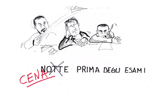 cena prima della bocciatura manovra italiana Salvini Conte Di Maio