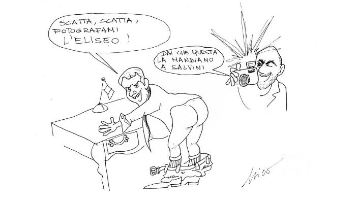 la vendetta di Macron Saviano su Salvini