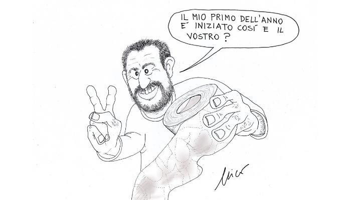 primo selfie di Salvini del 2019