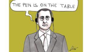 the pen is