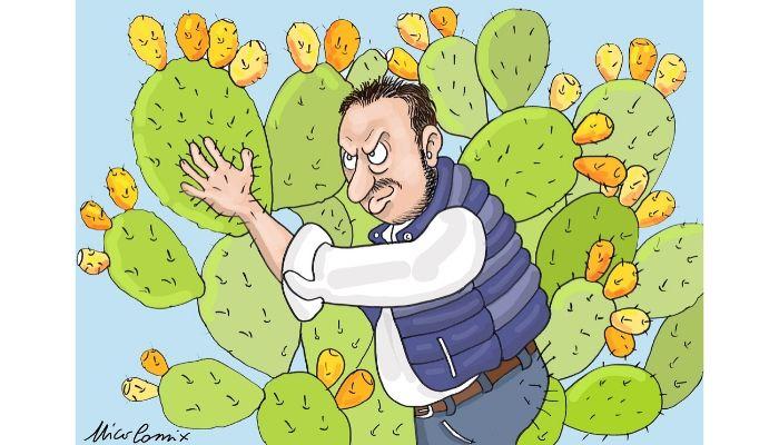 scaramanzia - Matteo Salvini , prima delle elezioni in Umbria, posta un video in cui abbraccia un ulivo secolare. Se il rito scaramantico funziona allora attendo con trepidazioni elezioni in terra sicula. Nicocomix
