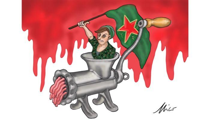 tritacarne - Erdogan ha dato inizio ai bombardamenti verso le milizie curde in Siria - Nicocomix