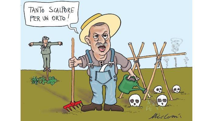 un orto -  Erdogan guadagna la striscia di sicurezza a nord della Siria. Nicocomix