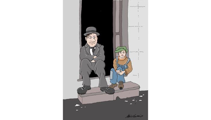 """Conte Chaplin Ilva . Ilva a rischio chiusura. Il premier Giuseppe Conte """"Il Monello"""". Nicocomix"""