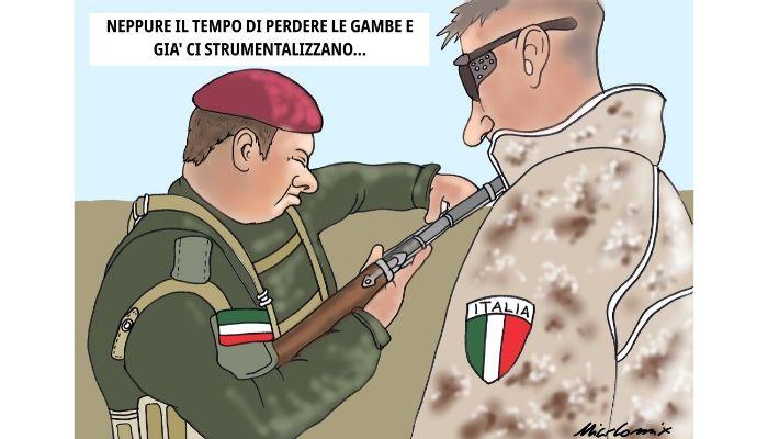 neppure il tempo di perdere le gambe - Attentato ai danni di militari italiani in Iraq - Nicocomix