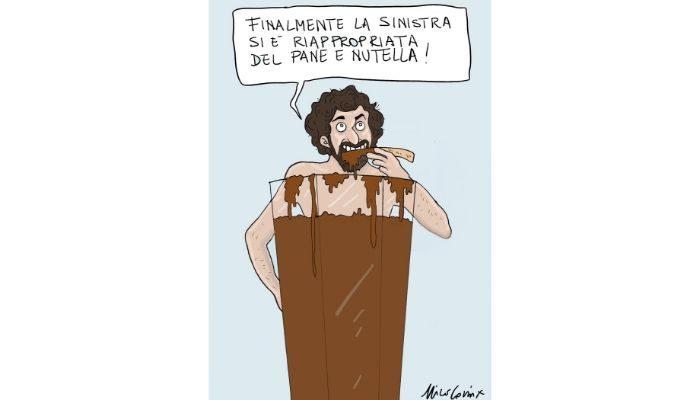 Nutella - L'attacco alla Nutella di Matteo Salvini non è passato inosservato neppure da Nanni Moretti . Nicocomix