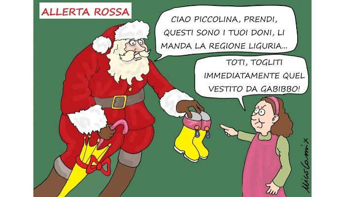 Toti di Natale -  Allerta Rossa, è più facile diramare l'allerta che mettere in sicurezza il territorio. Nicocomix