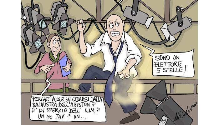 Ariston suicide . Qualcuno ha già preso possesso della balconata del teatro Ariston di Sanremo. Nicocomix