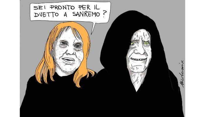 Sovranisti . Rita pavone si presenterà a Sanremo 2020, scattano le polemiche. A me ha sempre ricordato qualcuno... Nicocomix