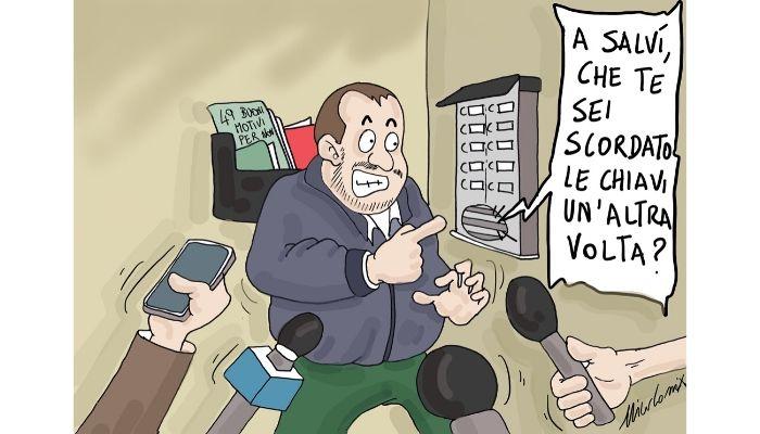 citofonare ore pasti . Salvini citofona a un presunto spacciatore tunisino. Nicocomix