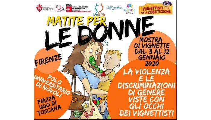 """locandina artemisia Mostra """" Matire per le donne"""" contro la violenza di genere. Firenze. Nicocomix"""