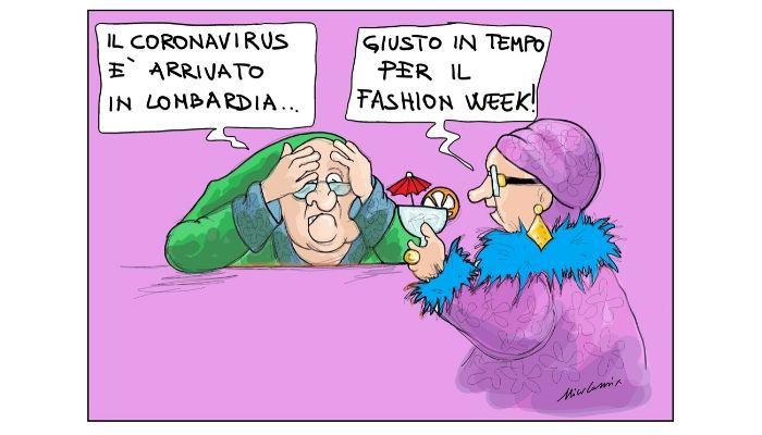 Fashion Week e Coronavirus - By Nicocomix