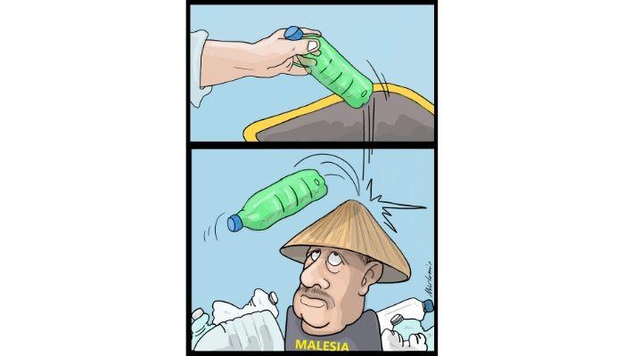 Malesia . I rifiuti di plastica di tutto il mondo finiscono illegalmente in Malesia. Nicocomix