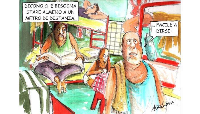 FACILE A DIRSI . mantenere le distanze di un FACILE A DIRSI . mantenere il metro di sicurezza per scongiurare il contagio da covid19 nelle carceri italiane è impossibile. Nicocomix