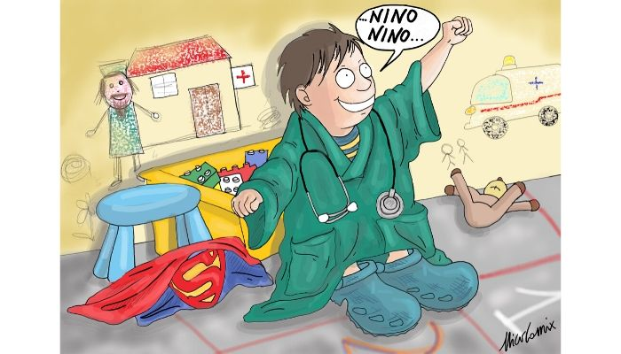 nuovi eroi In questo momento di crisi ospedaliera dovuta al coronavirus si scoprono i veri eroi. Nicocomix