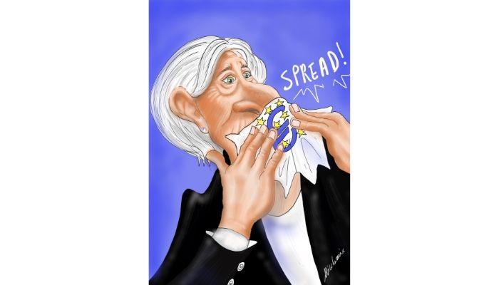"""spread . la frase infelice: """"Non siamo qui per ridurre gli spread"""". Le parole di Christine Lagarde affondano Milano e le altre Borse europee.  Nicocomix"""