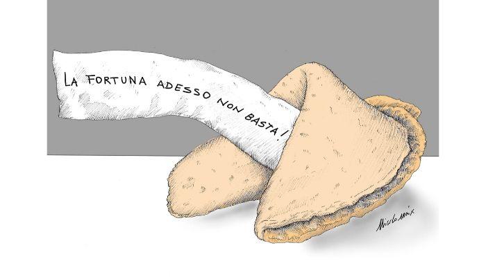 Biscotto della fortuna . Nell'emergenza coronavirus non bastano i biscotti della fortuna. Nicocomix