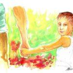 """12 Calvino Immagini . Le mie illustrazioni per il video tratto dal romanzo di Italo Calvino """" Il sentiero dei nidi di ragno"""" by Nicocomix"""