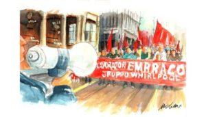 """J. Steinbeck """" La battaglia """" è il libro a cui mi sono ispirata per queste illustrazioni . Nicocomix"""