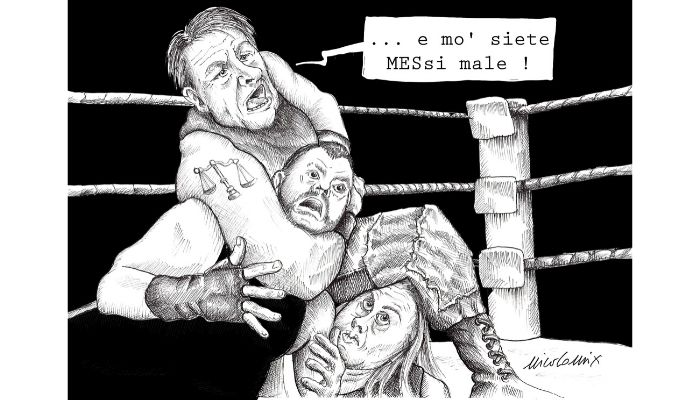e mò siete Messi male . Conte contro Salvini e la Meloni sul Mes è scontro. Nicocomix