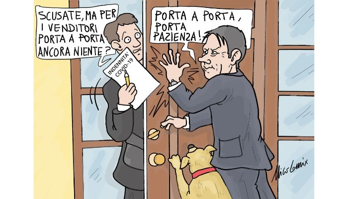 porta a porta, porta pazienta . venditori porta a porta e bonus governo. Nicocomix