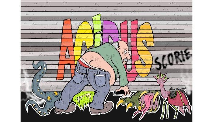 Acidus Scorie . copertina per la puntata n27 di Acidua Scorie su RadioSonar.Net . Nicocomix