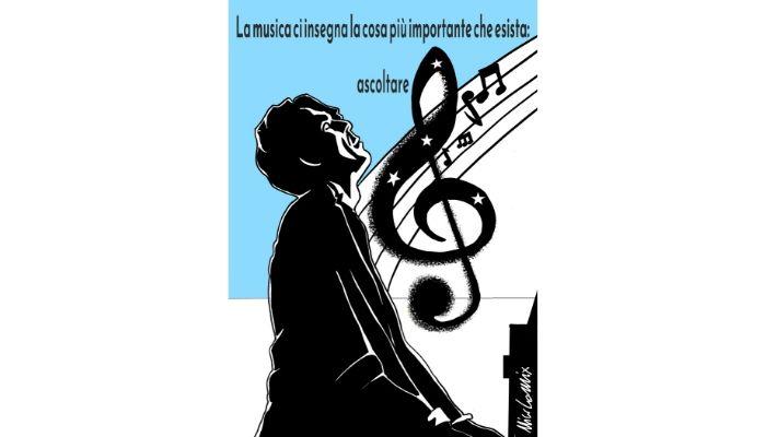 Ezio Bosso .La musica ci insegna la cosa più importante che esista: ascoltare.  Nicocomix