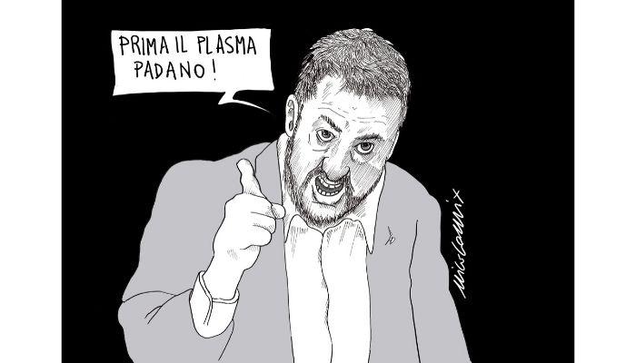 Salvini Virologo  Il plasma come cura al coronavirus diventa nuovamente un pretesto per attaccare il governo. Nicocomix
