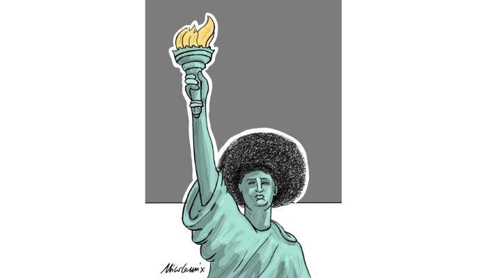 Statua Afro della libertà . George Floyd . Nicocomix