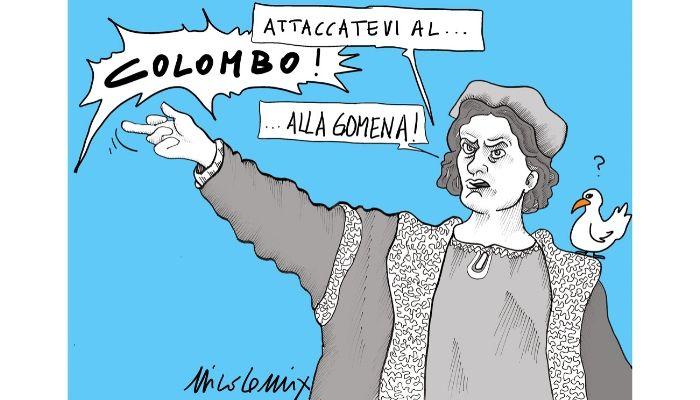 Cristoforo Colombo . Le statue di Colombo abbattute nelle protesta americana. Nicocomix