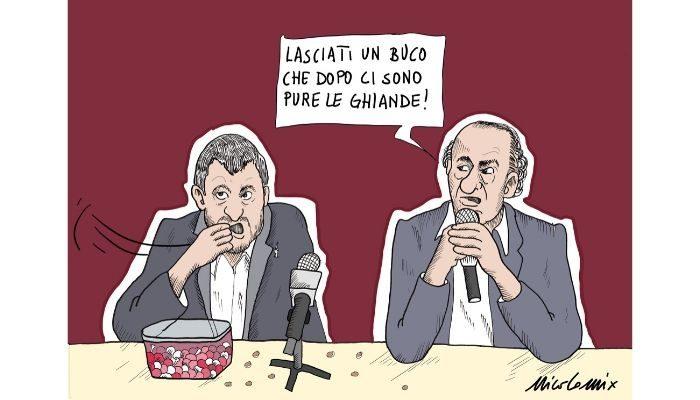 Ghiande . La sensibilità di Salvini mentre Zaia parla in conferenza di neonati morti in ospedale per batterio. Nicocomix