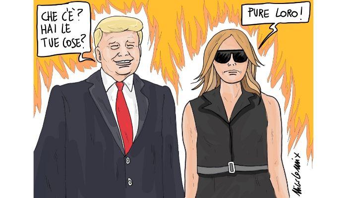 Melania . L'espressione della first lady americana lascia pochi dubbi sulla sua stima per il marito Donald Trump. Nicocomix
