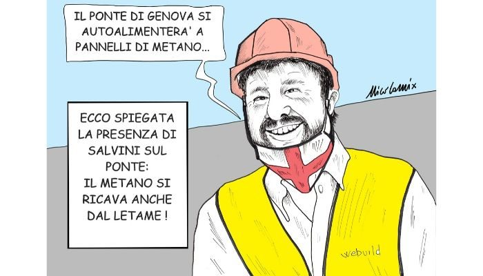 PONTE DI GENOVA . Salvini sale sul Ponte di Genova. Nicocomix