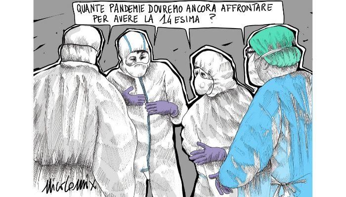 14esima . quante pandemie dovranno ancora avvenire perché gli operatori sanitari abbiano la 14esima? Nicocomix