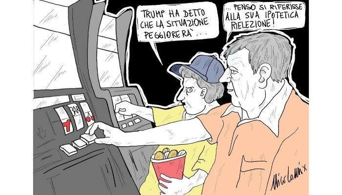 peggio no limits. Trump afferma che l'America peggiorerà... Nicocomix