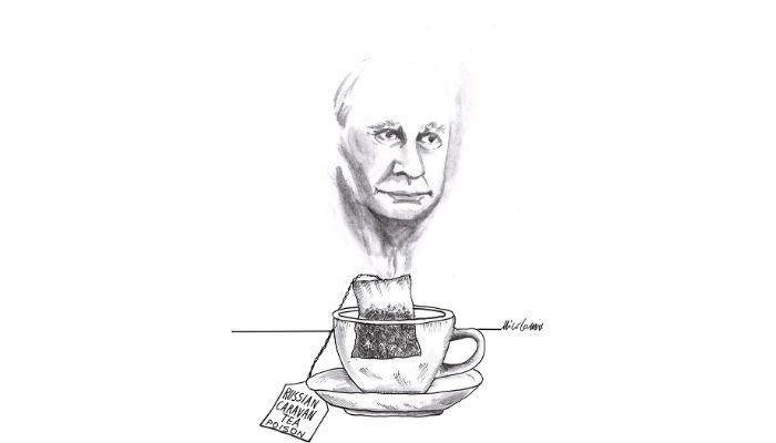 russian tea .  sconsigliato assumere the se avversario politico di Putin. Avvelenamento di Alexei Navalny . Nicocomix