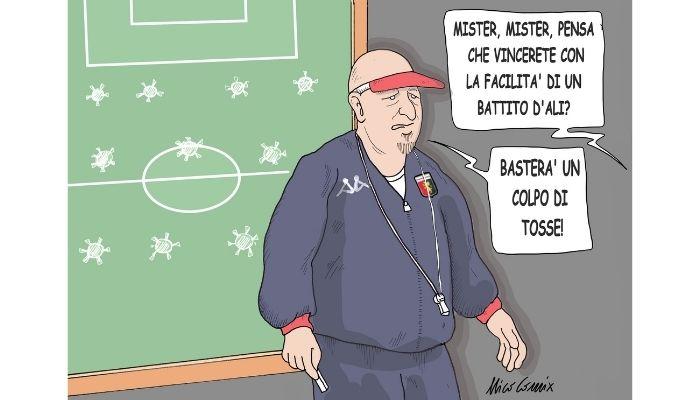 Genoa . Calciatori del Genoa positivi al covid. Nicocomix