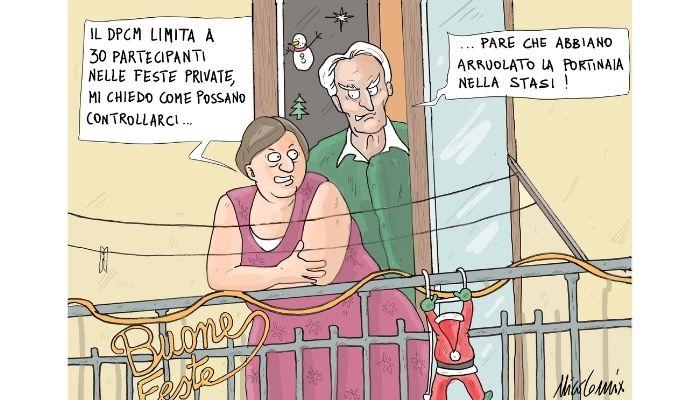 Dpcm misure restrittive assembramento covid.  Feste private, matrimoni, a rischio pure il Natale. Nicocomix