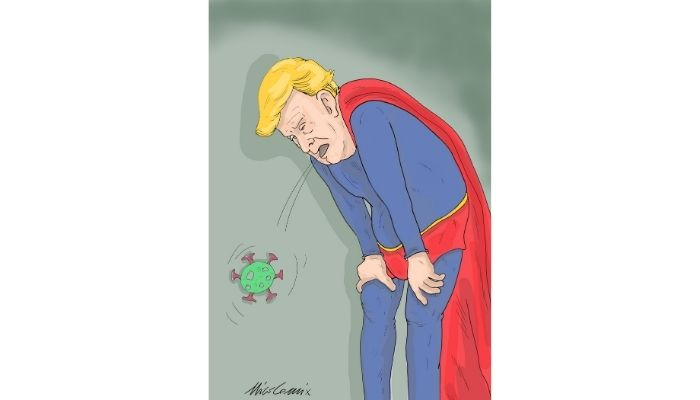 SuperTrump Trump covid. Nicocomix