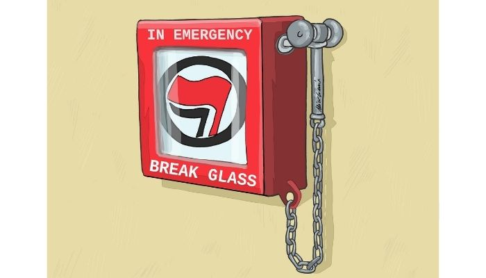 break glass. Antifascita. Nicocomix