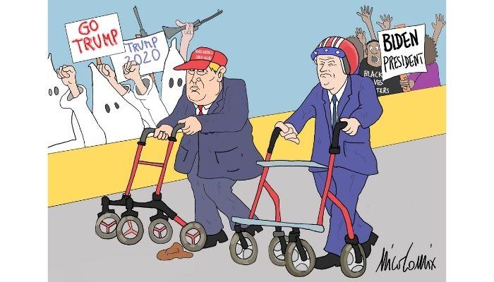 Corsa alla presidenza . Trump vs Biden . Nicocomix