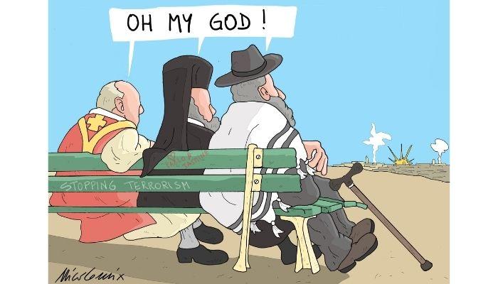 Oh my God! terrorismo e religione. Attentati. Nicocomix