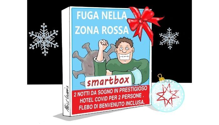 smartbox . idea regalo di Natale 2020 per negazionisti covid. Nicocomix