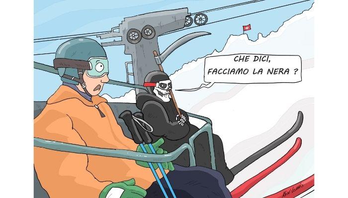 in Svizzera si può sciare. In tempo di covid non rinunciano a introiti. Nicocomix