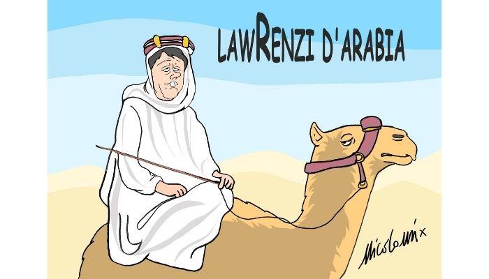 LawRenzi d'Arabia. Renzi e il viaggio in Arabia Saudita. Nicocomix