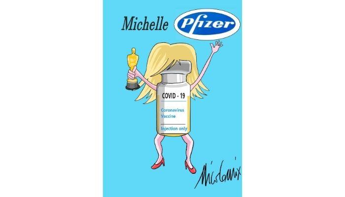Michelle Pfizer . Paranomasia. Nicocomix