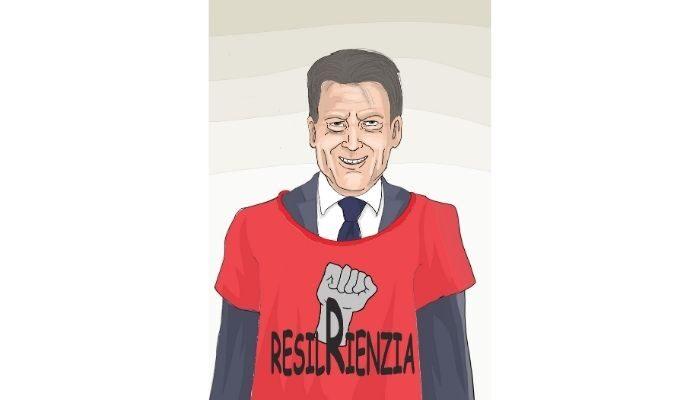 ResilRenzia . Giuseppe Conte e la resistenza a Renzi. Nicocomix