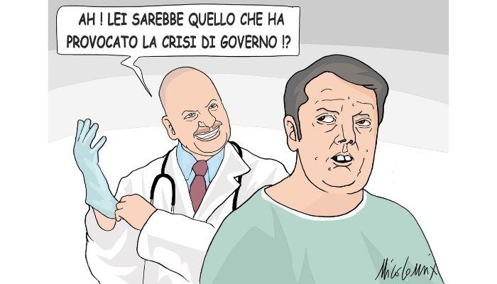 c'è crisi, grossa crisi. Matteo Renzi apre la crisi di Governo. Nicocomix